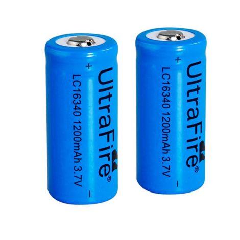 2x Baterías 16340 recargables